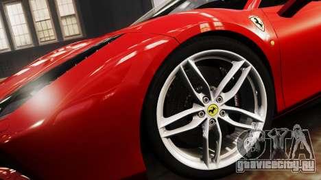 Ferrari 488 GTB 2016 для GTA 4 вид сзади слева