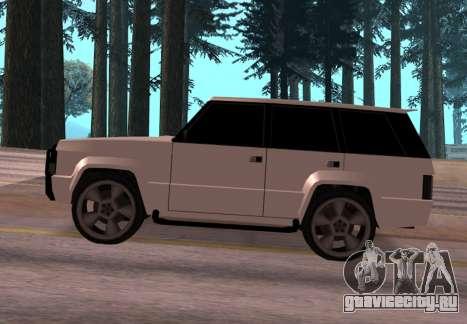 Huntley Rover для GTA San Andreas вид слева
