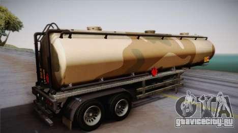 GTA 5 Army Tank Trailer IVF для GTA San Andreas вид слева