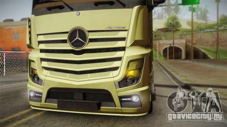 Mercedes-Benz Actros Mp4 6x4 v2.0 Steamspace для GTA San Andreas вид справа