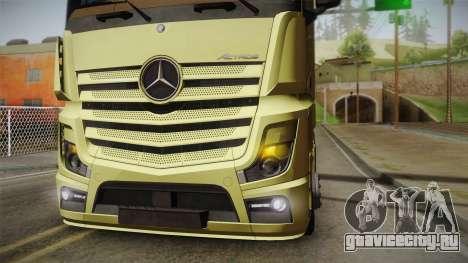 Mercedes-Benz Actros Mp4 6x4 v2.0 Steamspace для GTA San Andreas вид справа
