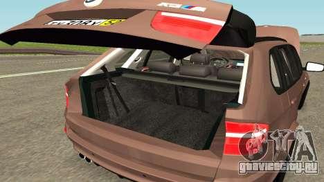 BMW X5M для GTA San Andreas вид сверху