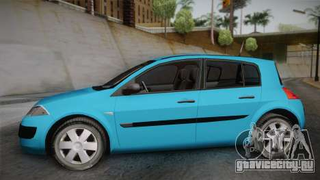 Renault Megane 2 Hatchback v2 для GTA San Andreas вид сзади слева