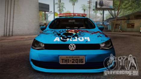 Volkswagen Voyage G6 Pmerj Graffiti для GTA San Andreas вид сзади слева
