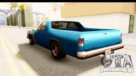 Picador Sticker Bomb для GTA San Andreas вид сзади слева
