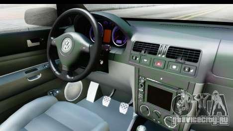 Volkswagen Golf Mk4 Pickup для GTA San Andreas вид изнутри