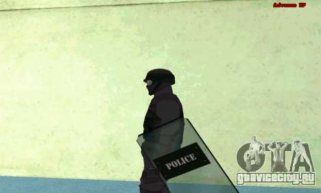 Скин SWAT из GTA 5 (PS3) для GTA San Andreas третий скриншот
