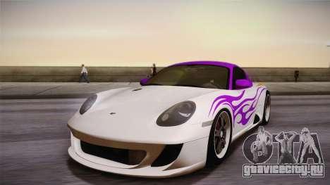 Ruf RK Coupe (987) 2007 HQLM для GTA San Andreas вид изнутри