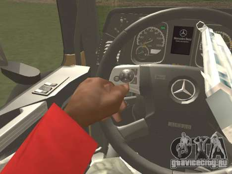 Mercedes-Benz Actros Mp4 4x2 v2.0 Steamspace для GTA San Andreas вид изнутри