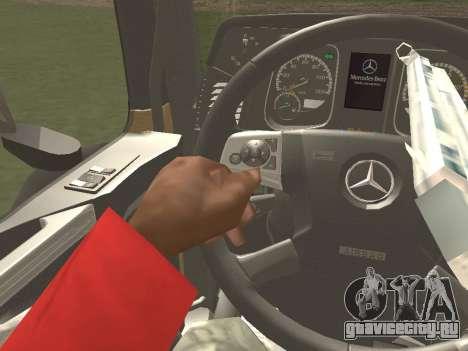 Mercedes-Benz Actros Mp4 6x4 v2.0 Bigspace для GTA San Andreas вид справа