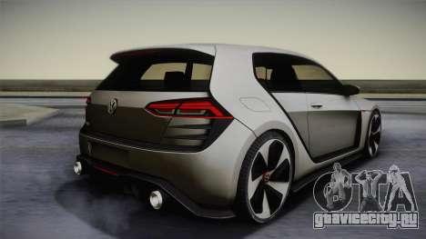 Volkswagen Golf Design Vision GTI для GTA San Andreas вид слева