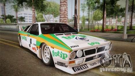 Lancia Rally 037 Stradale (SE037) 1982 Dirt PJ2 для GTA San Andreas вид сзади слева