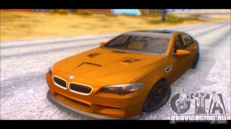 BMW M5 F10 2014 для GTA San Andreas вид сзади слева