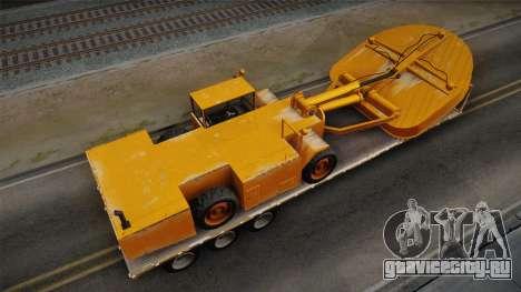 GTA 5 Army Flat Trailer with Cutter IVF для GTA San Andreas вид сзади слева