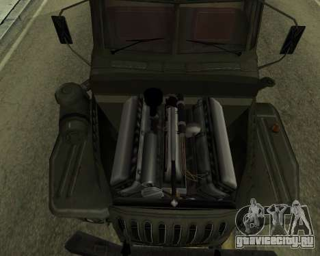 Ural 4320 Armenian для GTA San Andreas вид изнутри