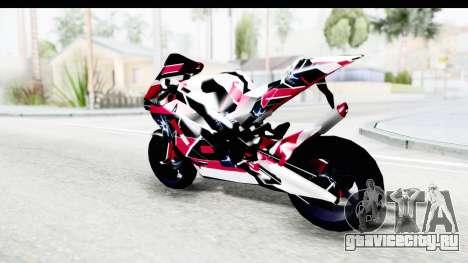Dark Smaga Motorcycle with Frostbite 2 Logos для GTA San Andreas вид слева