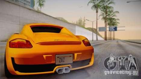 Ruf RK Coupe (987) 2007 IVF для GTA San Andreas вид сверху