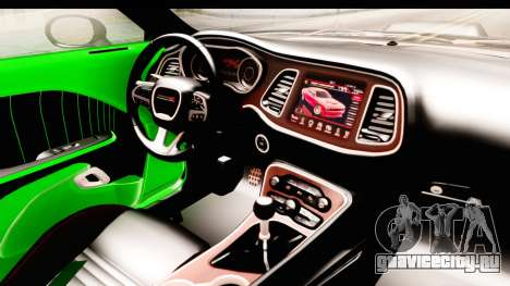 Dodge Challenger F&F 7 для GTA San Andreas вид изнутри