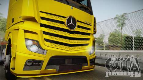 Mercedes-Benz Actros Mp4 4x2 v2.0 Gigaspace v2 для GTA San Andreas вид сзади слева