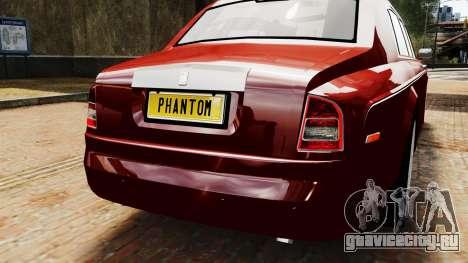 Rolls-Royce Phantom LWB V2.0 для GTA 4 вид сзади