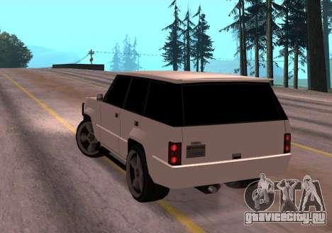 Huntley Rover для GTA San Andreas вид сзади слева