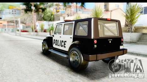 Canis Mesa Police для GTA San Andreas вид справа