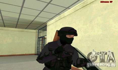 Скин SWAT из GTA 5 для GTA San Andreas четвёртый скриншот