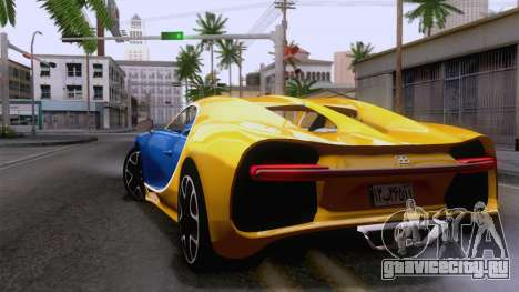 Bugatti Chiron 2017 v2.5 для GTA San Andreas вид слева