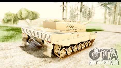 Leopard 2A4 для GTA San Andreas вид слева