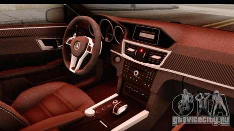 Mercedes-Benz E63 AMG для GTA San Andreas вид изнутри