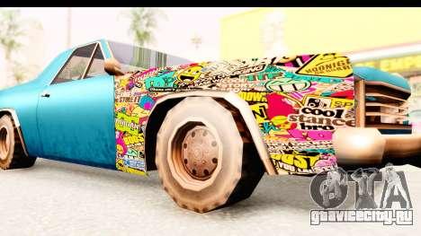 Picador Sticker Bomb для GTA San Andreas вид сзади