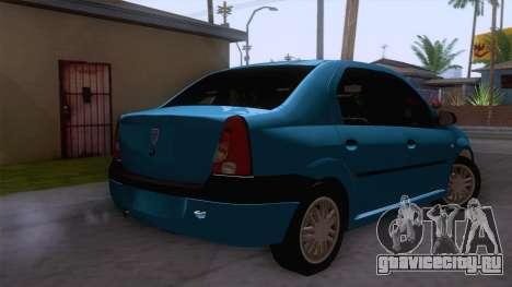 Dacia Logan Prestige 1.6L 16V для GTA San Andreas вид сзади слева