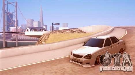 Lada Priora Autozvuk v.1 для GTA San Andreas вид справа