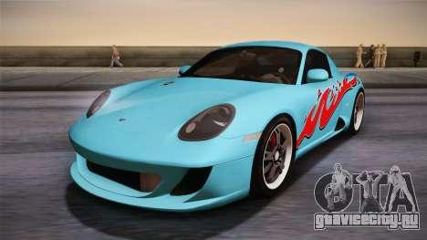 Ruf RK Coupe (987) 2007 IVF для GTA San Andreas салон