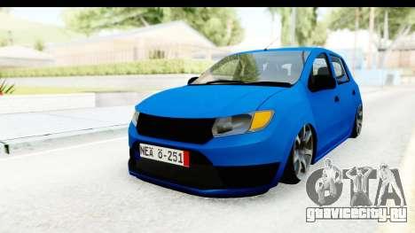 Dacia Sandero 2013 для GTA San Andreas вид справа