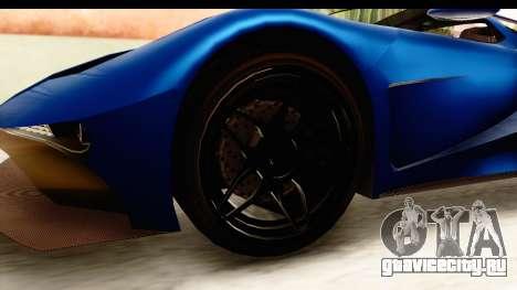 GTA 5 Vapid FMJ SA Style для GTA San Andreas вид сзади