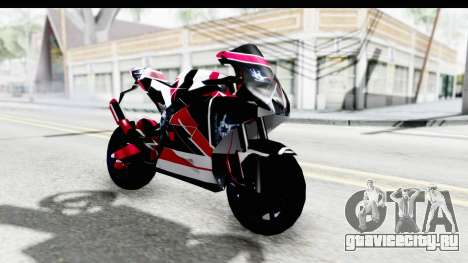 Dark Smaga Motorcycle with Frostbite 2 Logos для GTA San Andreas вид справа