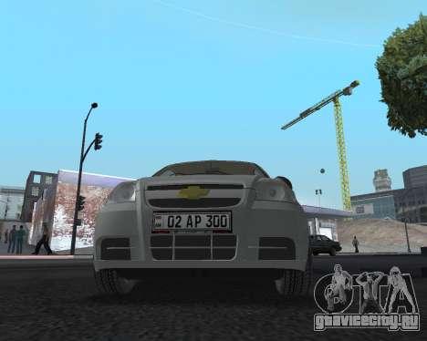 Chevrolet Aveo Armenian для GTA San Andreas вид сбоку