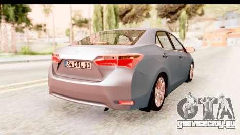 Toyota Corolla 2014 IVF для GTA San Andreas вид слева
