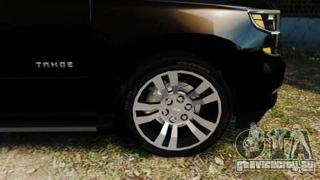 Chevrolet Tahoe 2015 V1.1 для GTA 4 вид сзади слева