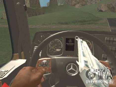Mercedes-Benz Actros Mp4 6x4 v2.0 Steamspace v2 для GTA San Andreas вид сбоку