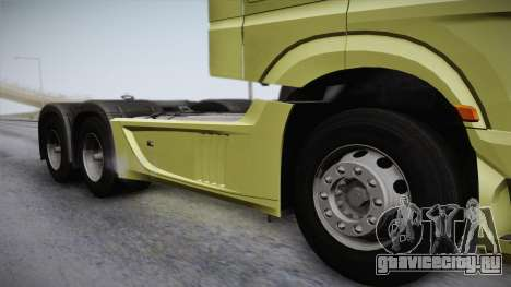 Mercedes-Benz Actros Mp4 6x4 v2.0 Steamspace для GTA San Andreas вид сзади слева