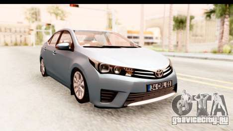 Toyota Corolla 2014 IVF для GTA San Andreas вид сзади слева