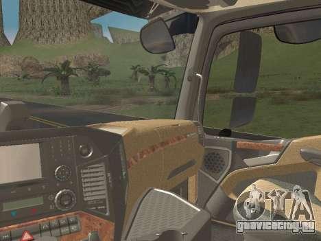 Mercedes-Benz Actros Mp4 6x4 v2.0 Steamspace v2 для GTA San Andreas вид снизу