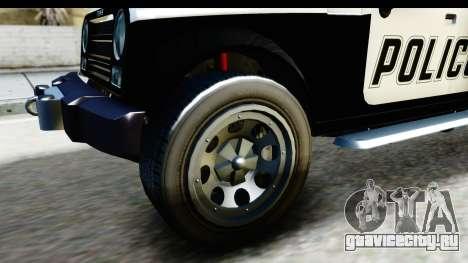 Canis Mesa Police для GTA San Andreas вид сзади