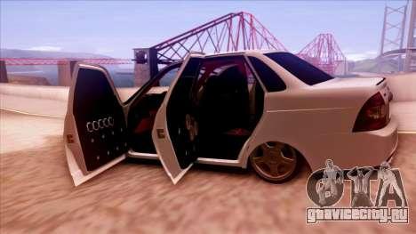 Lada Priora Autozvuk v.1 для GTA San Andreas вид сбоку