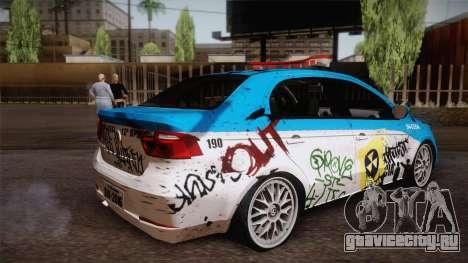 Volkswagen Voyage G6 Pmerj Graffiti для GTA San Andreas вид слева