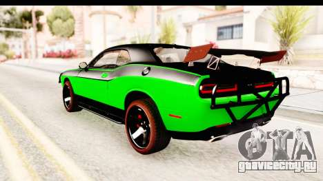 Dodge Challenger F&F 7 для GTA San Andreas вид слева