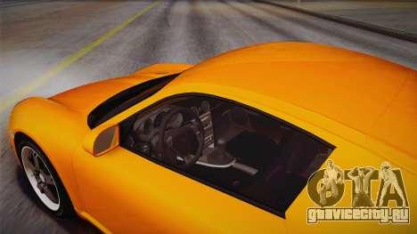 Ruf RK Coupe (987) 2007 IVF для GTA San Andreas вид изнутри
