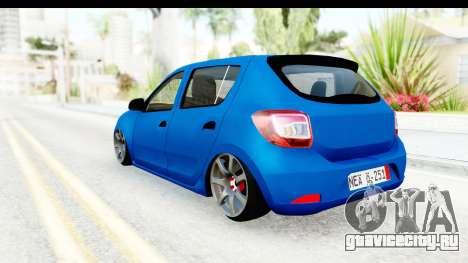 Dacia Sandero 2013 для GTA San Andreas вид сзади слева